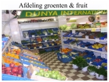 Afdeling groente en fruit