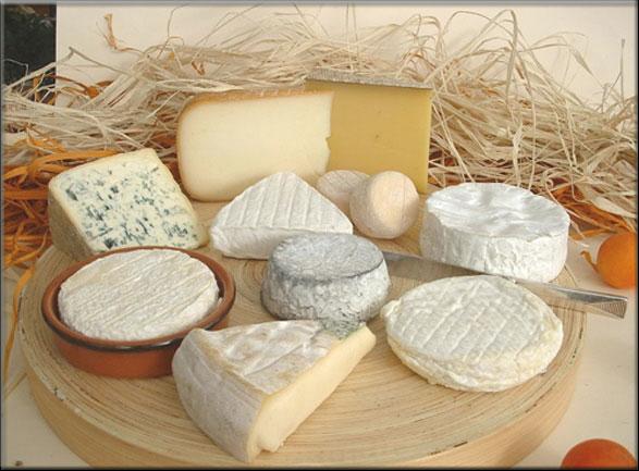 Afdeling melkproducten for Guisos franceses